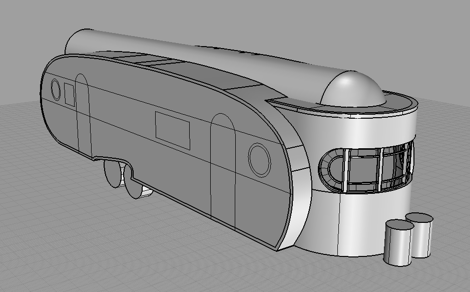 3D CAD drawing of initial redesign