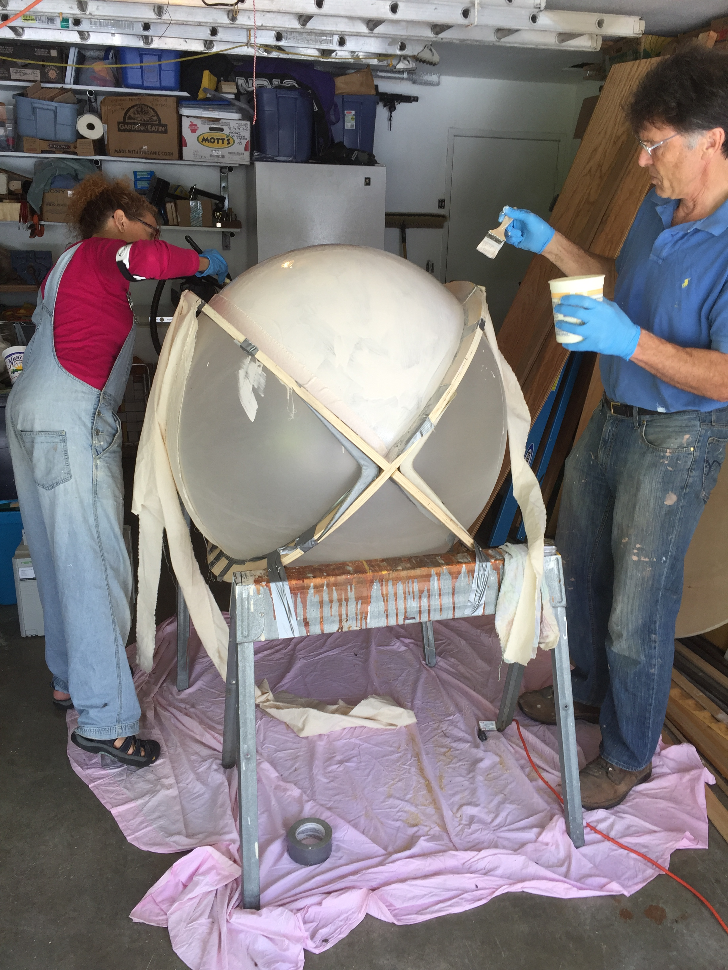 "Interior ""bubble"" being formed"