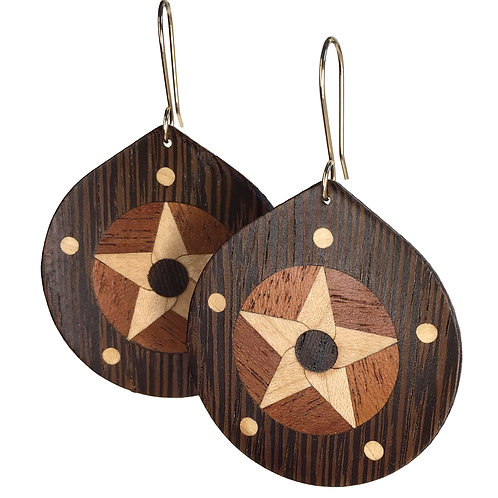 Star with 5 Planets (wenge)