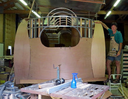 Airfloat getting plywood skin