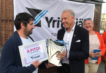 Special price from Turun Yrittäjät yesterday in #Å pitch