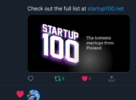 Top 10 of Hottest StartUps from Finland - December list. Not bad!!