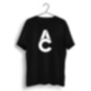 AC TSHIRT BLACK - CHEST PRINT
