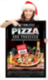 Pizza Prosecco Sexy Santa poster small.j