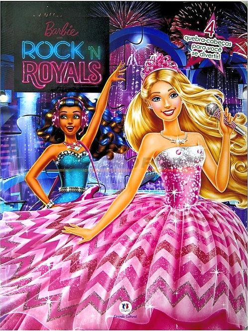 Livro Quebra Cabeça Barbie - Rock'n Royals