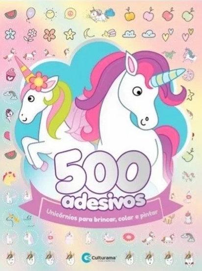 500 Adesivos - Unicórnios