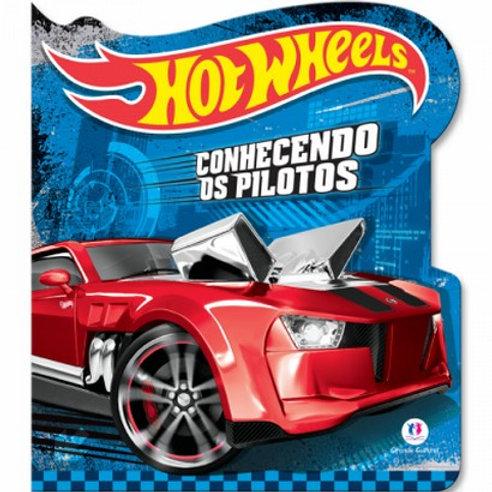 Livro Cartonado Hotwheels - Conhecendo Pilotos