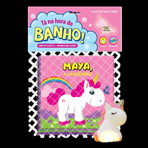 Livro de Banho - Tá na Hora do Banho - Maya a Unicórnio
