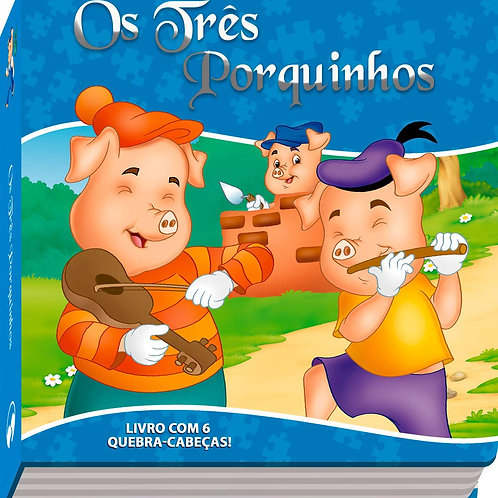 Livro Quebra Cabeça - Os Três Porquinhos