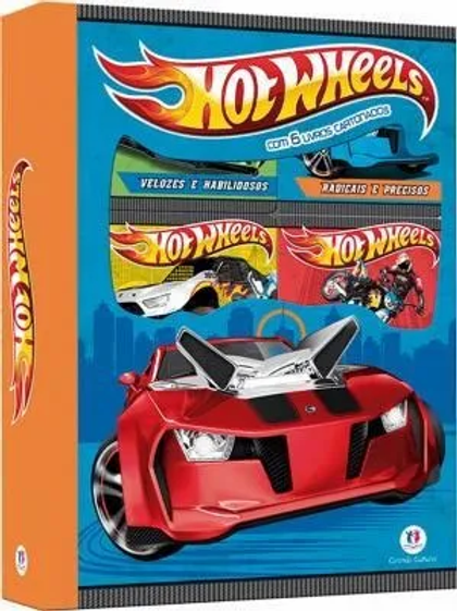 Box C/6 Minilivros - Hot Wheels