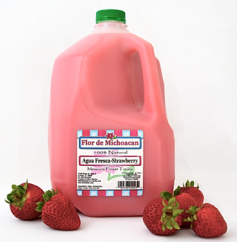 Natural, frozen, agua fresca (fruit drink) concentrate (concentrado).
