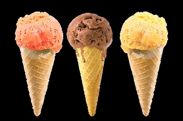 Ice cream cones, helados, conos, nieves, chocolate, vainilla, mango