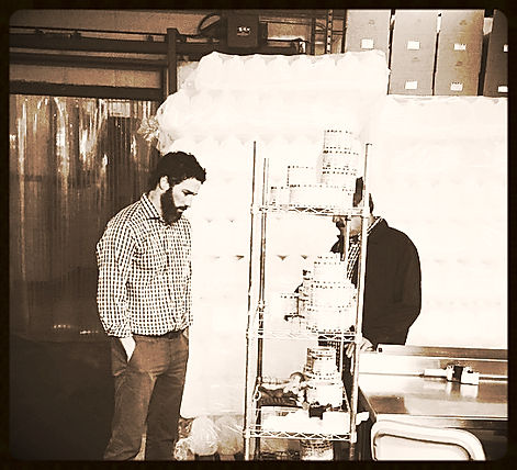 Stewart Hatch (owner) in Paletas Ice Cream plant.