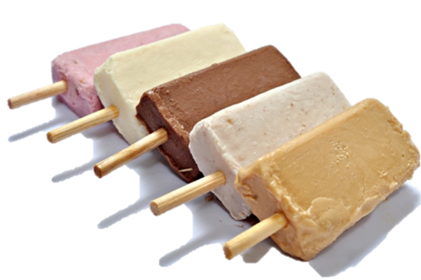 frozen fruit bars, ice cream bars, handmade