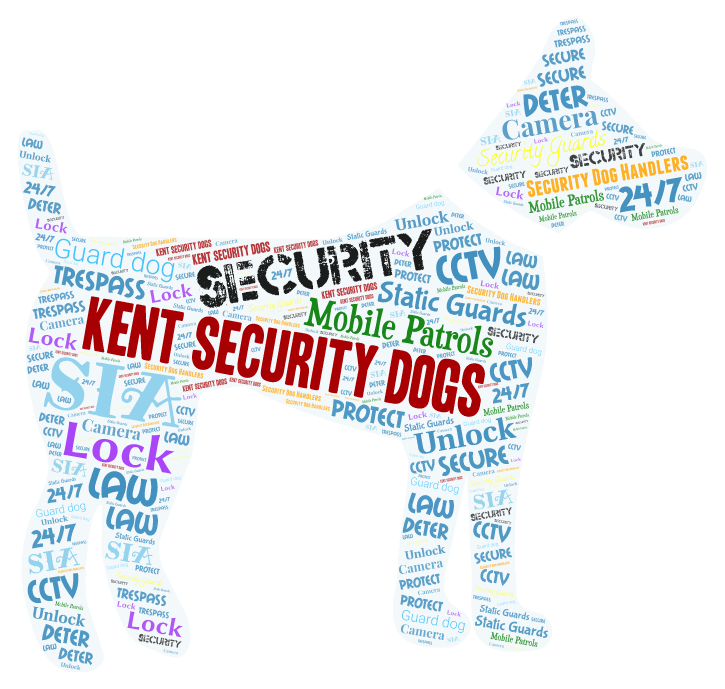 kent security dogs word art