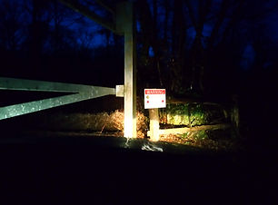 Securing a gate in the night