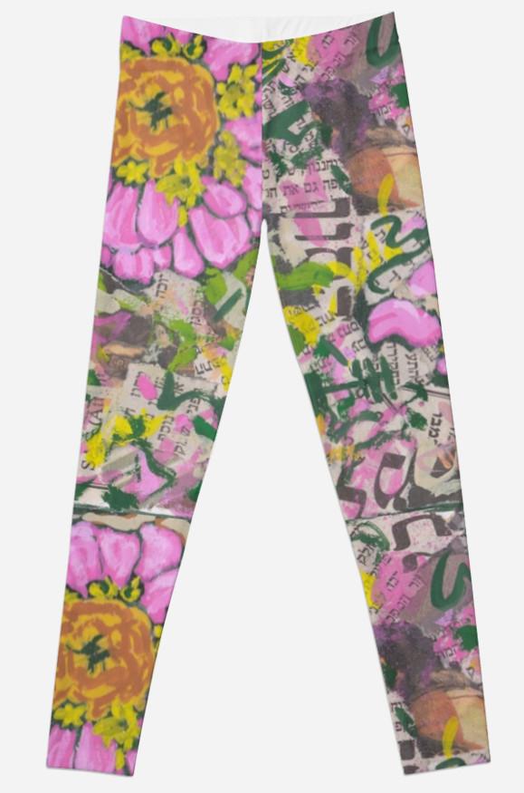 Graffiti flowers leggings