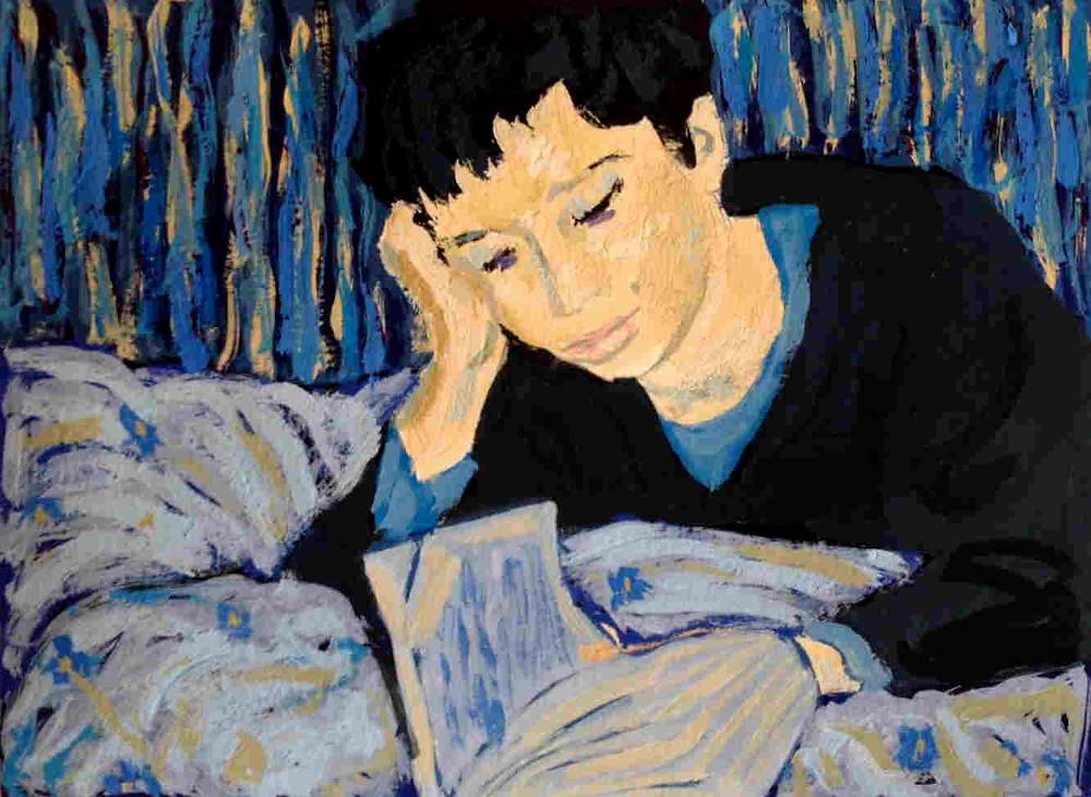 peinture d'une femme qui lit