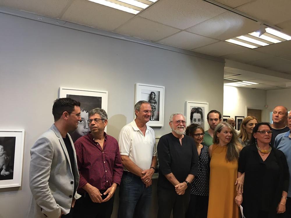 Inauguration de l'exposition photo en présence du maire de Ra'anana