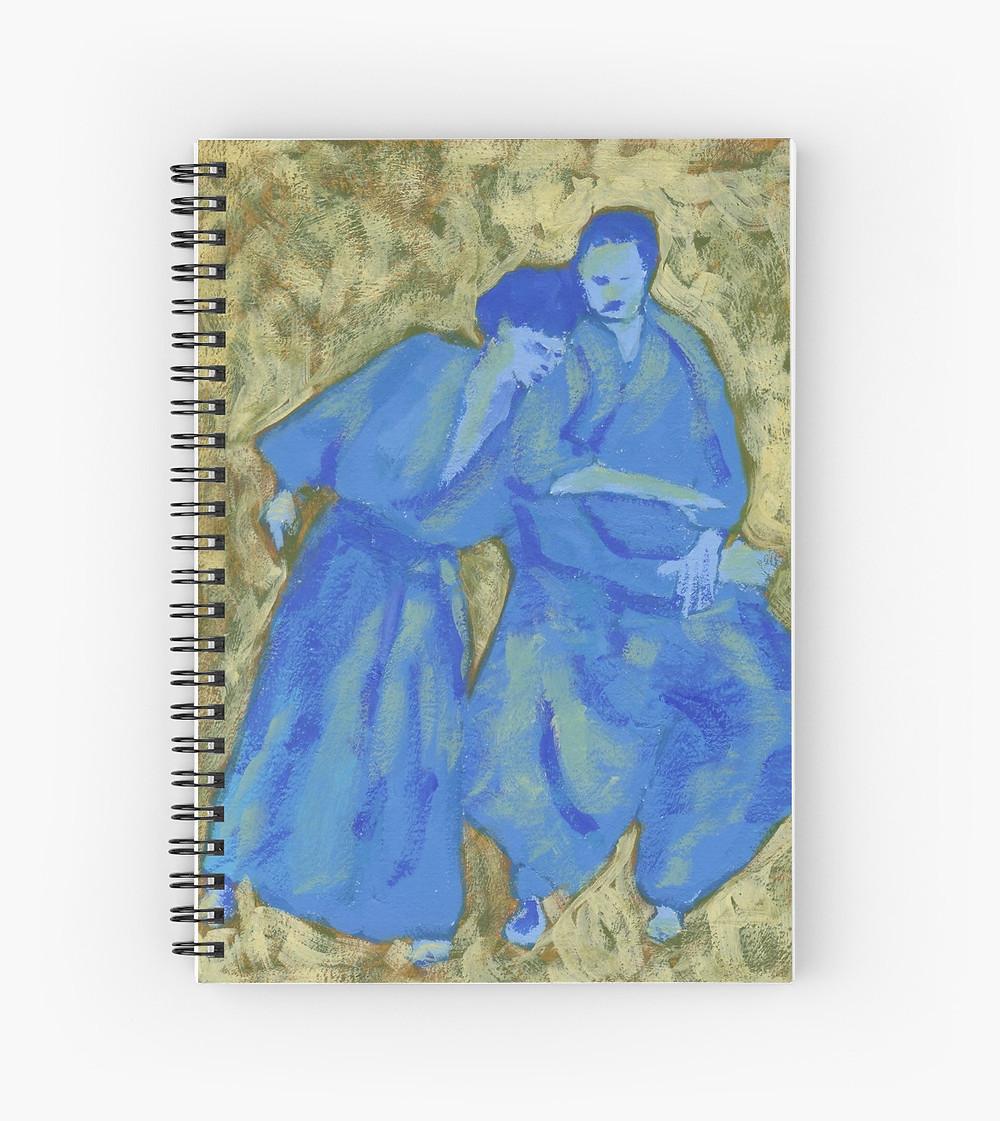 Aikido spiral notebook