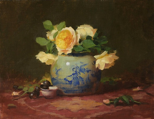 Painting Roses and Still Life with Elizabeth Robbins