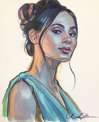 Contemporary Portrait Painting with Rose Datoc Dall