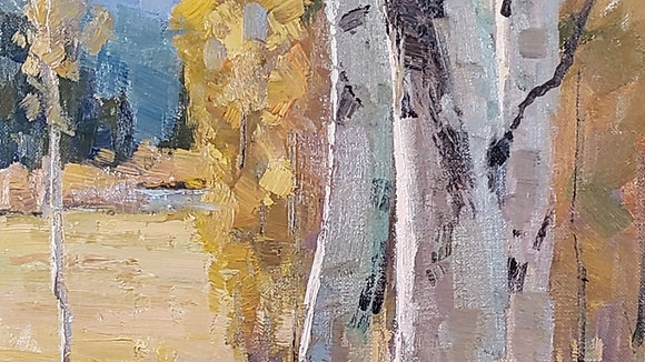 Painting Back-Lit Aspens with Keith Bond