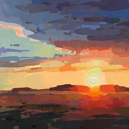 Capturing Fire & Sunset in Gouache with Jeremy Duncan