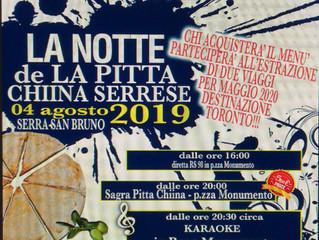 La Notte de La Pitta Chiina Serrese - 04 Agosto 2019