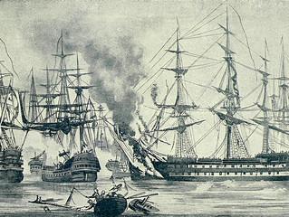 Nederlanders en de Russische vloot.
