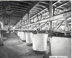 Rondstoel breimachines bij Jansen en Tilanus