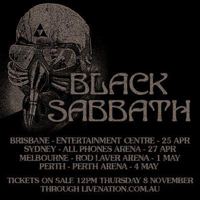 Black Sabbath OZ Tour 2013