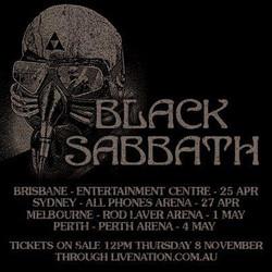 Black Sabbath OZ Tour 2013