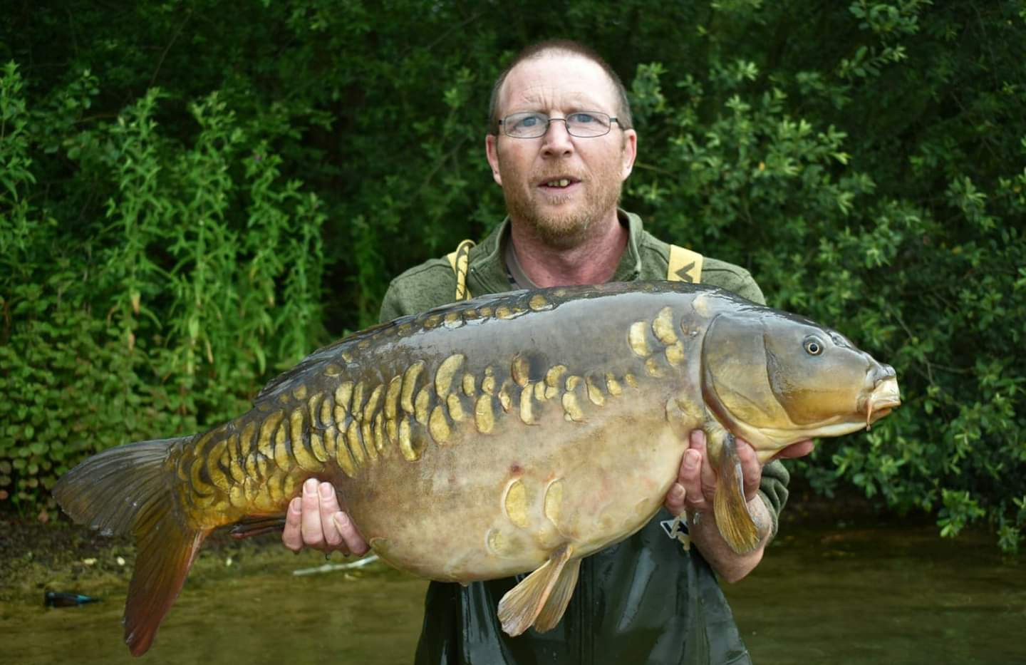 Paul Beresford with a 31lb 8oz fish from Astbury Mere