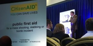 First public announcement of citizenAID at Trauma Innovation