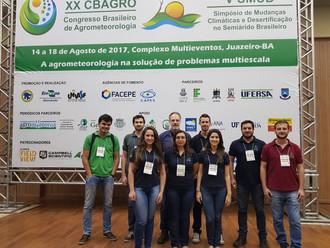 Integrantes do Grupo de Pesquisa em Agrometeorologia da USP/ESALQ participam do XX CBAGRO