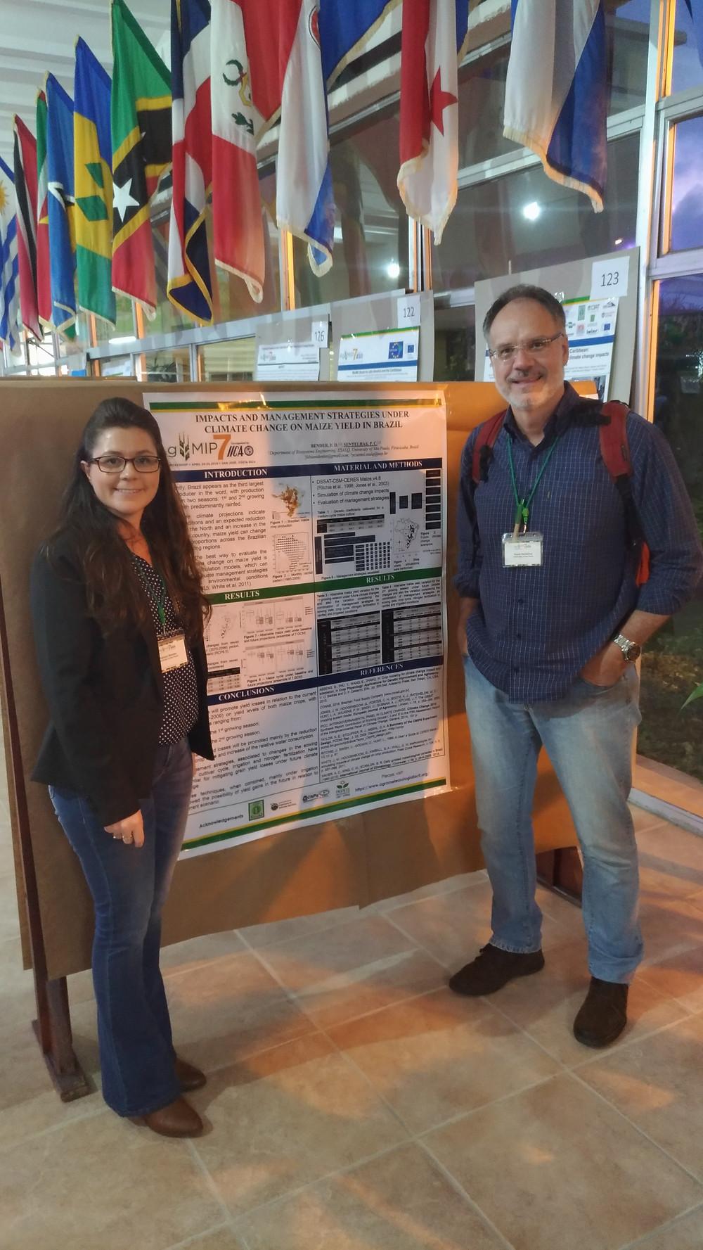 Dra. Fabiani Bender e o Prof. Dr. Paulo Sentelhas no AgMIP7