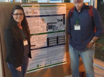 Os pesquisadores Fabiani Bender e Paulo Sentelhas representam o Brasil no AgMIP7 em San Jose, Costa