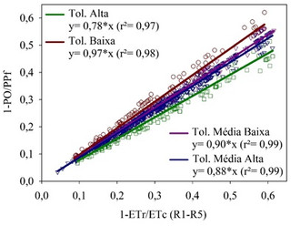 Tolerância ao déficit hídrico: modelo agrometeorológico de penalização de produtividade por déficit