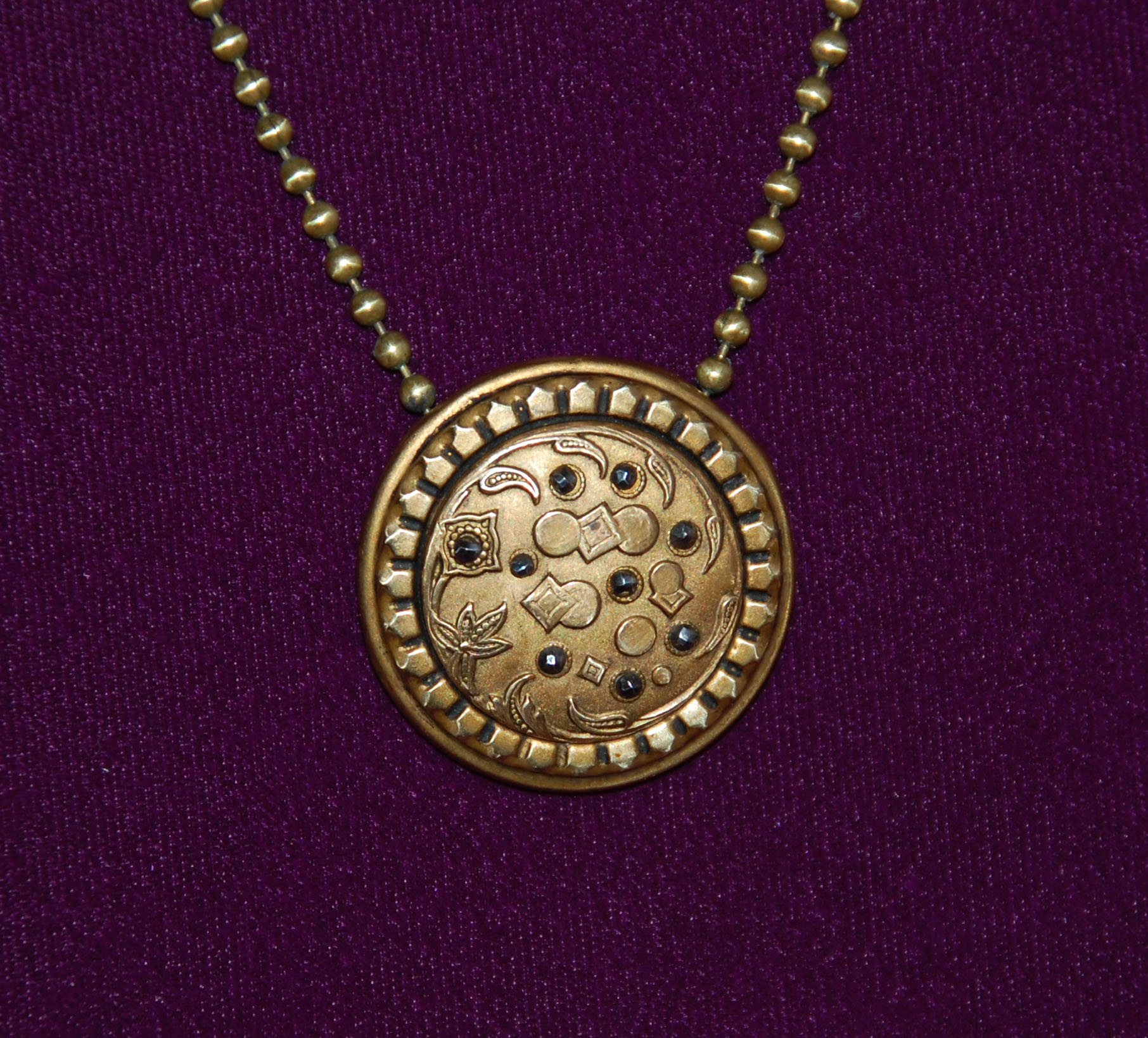 Antique Button Necklace