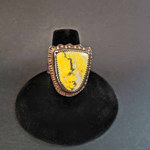 Julie Shaw Bumblebee Jasper ring