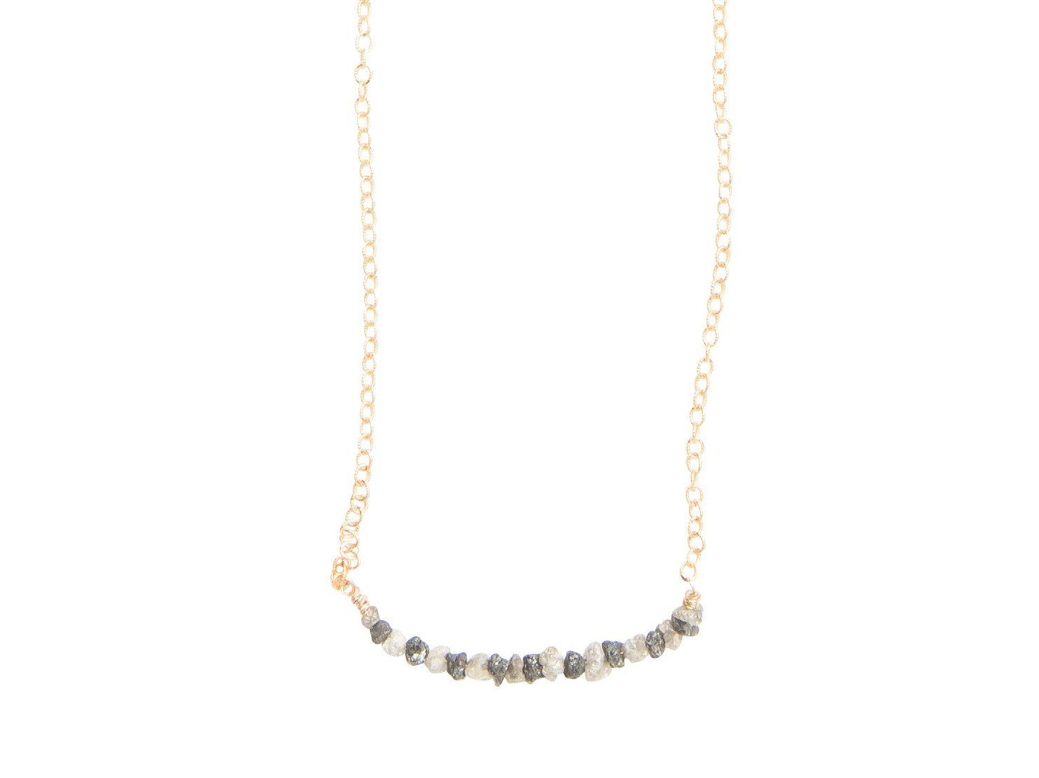 Raw Diamond Bar Necklace