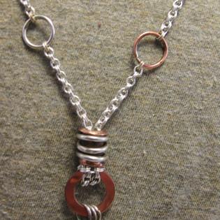 Flanged tube chain detail