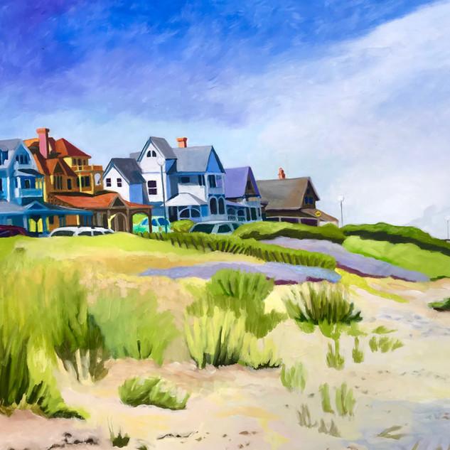 Joanne Bergen,  Sea View Avenue, oil on p