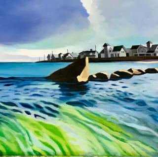 Joanne Bergen,  The Fin, Oil on panel
