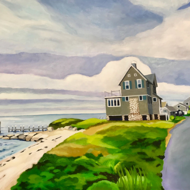 Joanne Bergen,  East Chop House,  oil on panel