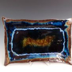 Rectangle Blue Platter