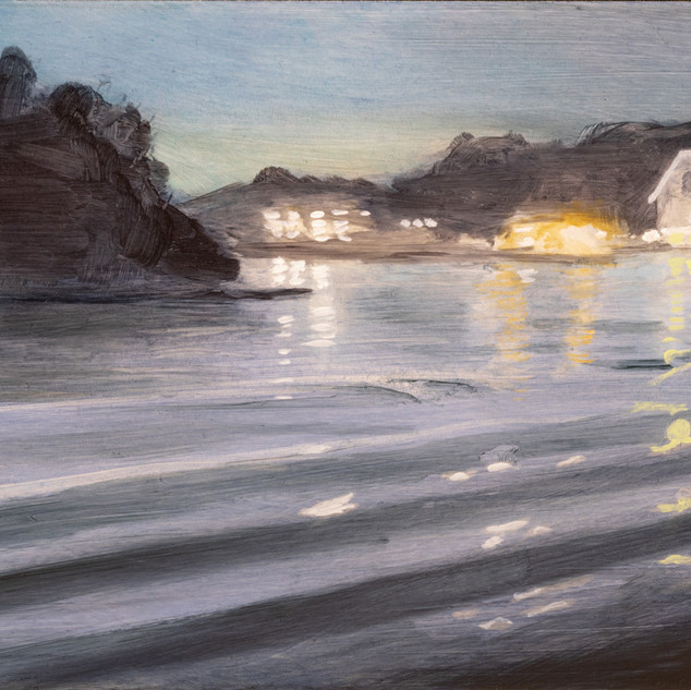 Cynthia Woehrle  Water and Lights at Night