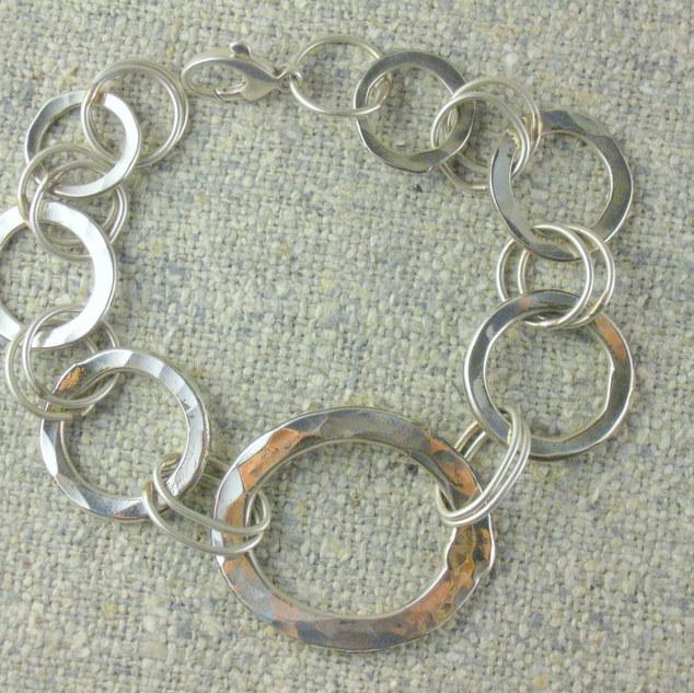 Robin Lee Becker Sterling Hammerchain Bracelet