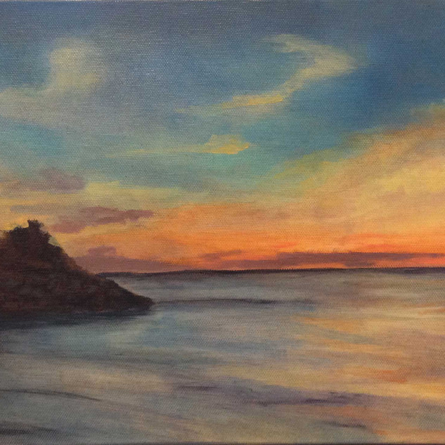 Knob_at_Sunset oil Cynthia Woehrle.jpg